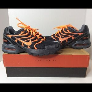 NIKE Air Max Torch 4 Black Orange Sneakers 6.5Y